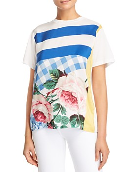 70be683765f Weekend Max Mara - Eulalia Floral   Color-Blocked Tee ...