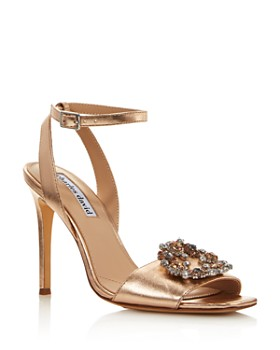 Charles David - Women's Vanity Embellished Metallic Leather High-Heel Sandals