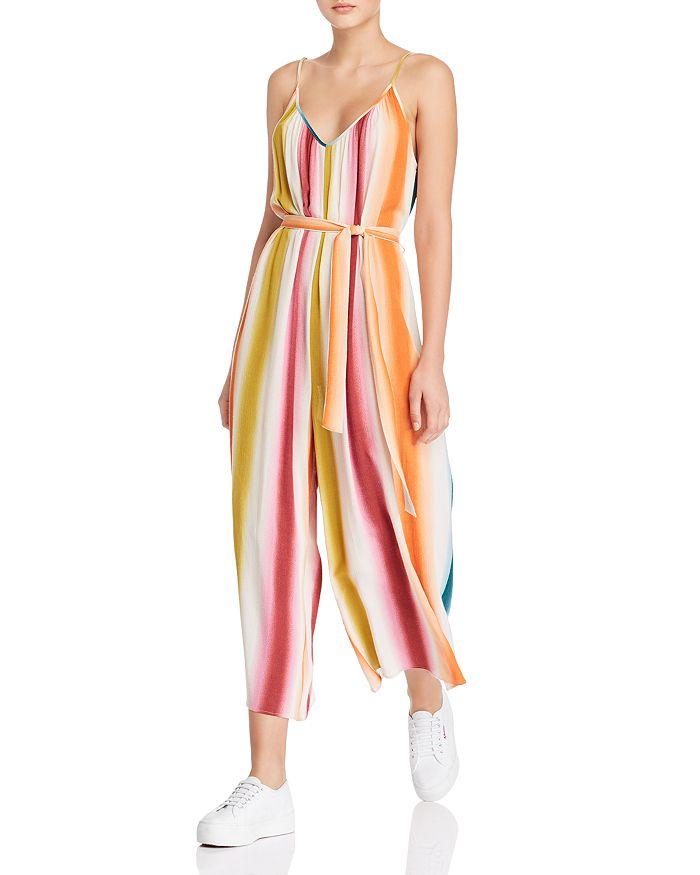 AQUA - Rainbow-Stripe Wide-Leg Jumpsuit - 100% Exclusive