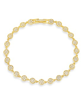 Crislu - Pavé Infinity Tennis Bracelet in 18K Gold-Plated Sterling Silver, 18K Rose Gold-Plated Sterling Silver or Platinum-Plated Sterling Silver