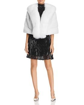 Maximilian Furs - Fox Fur Tuxedo & Mink Fur Cape - 100% Exclusive
