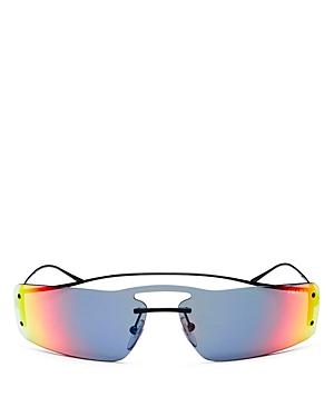 ba0d58aac5 Prada Women S Mirrored Brow Bar Rimless Shield Sunglasses