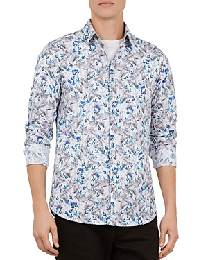 Ted Baker Thefern Floral Slim Fit Button-Down Shirt