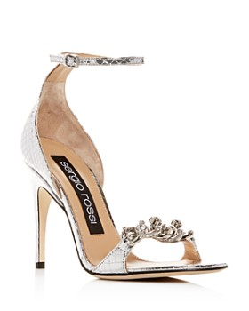 Sergio Rossi - Women's Chained High-Heel Sandals