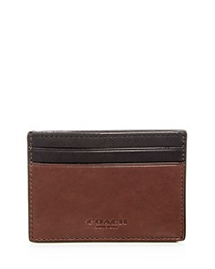 COACH - Leather Money Clip Card Case