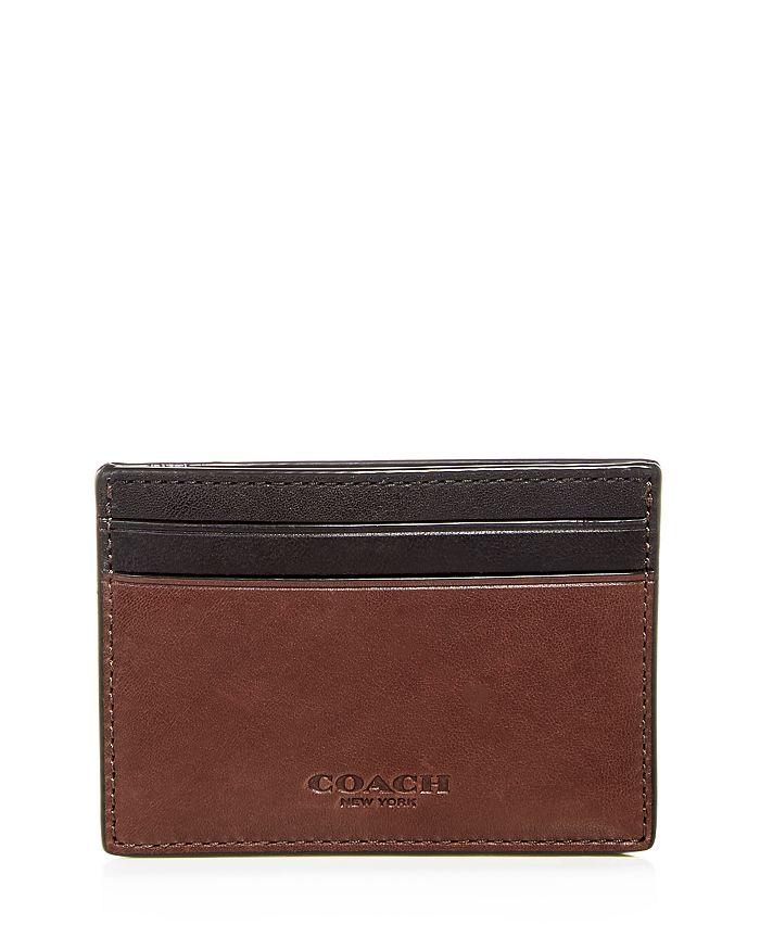 1b38b57f Leather Money Clip Card Case