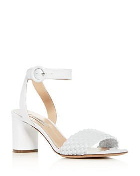 17913c16e Casadei - Women s Woven Ankle-Strap Block-Heel Sandals ...