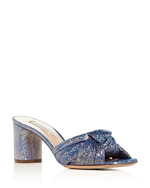 Casadei Women's Glitter Block-Heel Slide Sandals