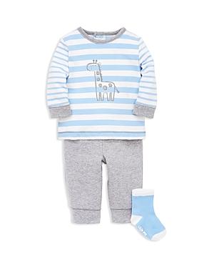Little Me Boys Giraffe Long Sleeve Tee Jogger Pants  Socks Set  Baby