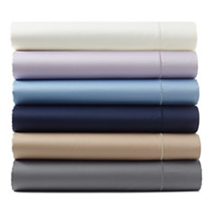 Hudson Park Collection - 500TC Sateen Iron Free Solid Sheets - 100% Exclusive