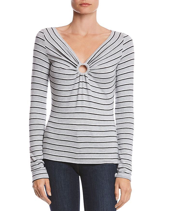 Bailey 44 - Warm And Fuzzy Striped Top