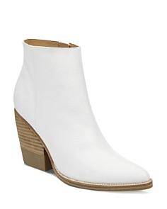 Marc Fisher LTD. - Women's Bellen Stacked-Heel Leather Booties