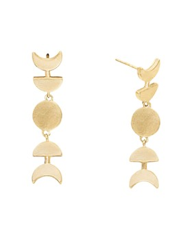 Alex and Ani - Lunar Phase Drop Earrings in 14K Gold-Plated Sterling Silver or Sterling Silver