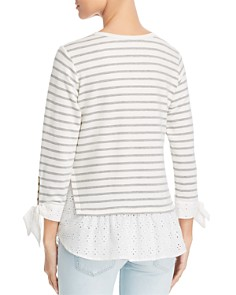 Status by Chenault - Eyelet Layered Look Top