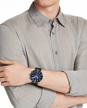 Tissot - Seastar 1000 Blue-Dial & Black Rubber Strap Chronograph, 45.5mm