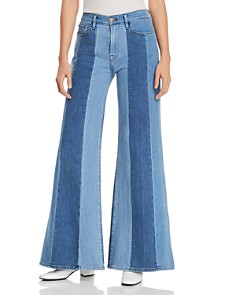 FRAME - Le Palazzo Paneled Wide-Leg Jeans in Vineyard