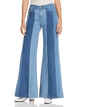 32a3e4f0ef FRAME - Le Palazzo Paneled Wide-Leg Jeans in Vineyard ...