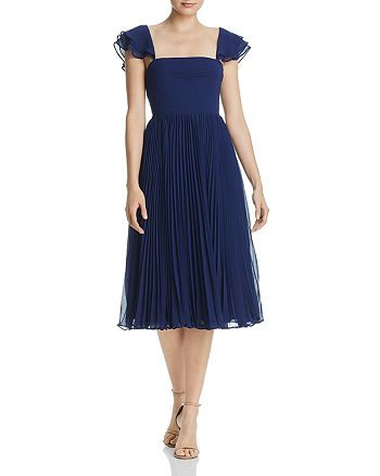 Fame and Partners - Willa Pleated Chiffon Dress