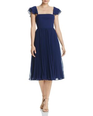 Fame and Partners Willa Pleated Chiffon Dress