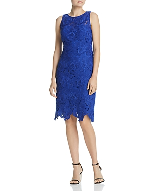 Laundry By Shelli Segal Floral Lace Dress In Royal  24a6d4234390