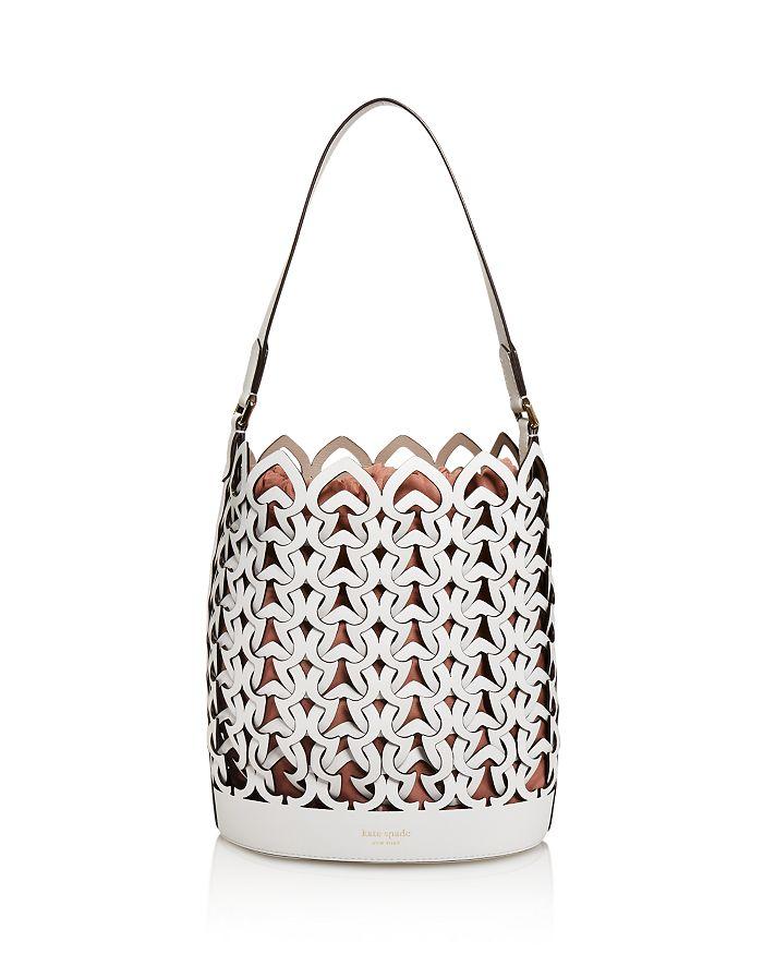 kate spade new york - Medium Perforated Leather Bucket Bag