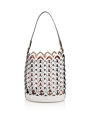 kate spade new york Medium Perforated Leather Bucket Bag