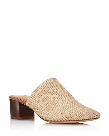 Via Spiga - Women's Mitchel 2 Woven Block Heel Mules - 100% Exclusive