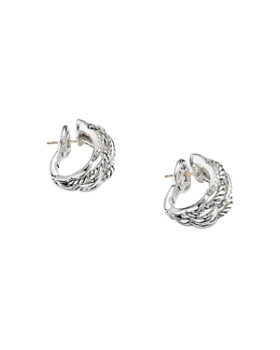 David Yurman - Tides Shrimp Earrings in Sterling Silver with Diamonds