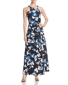 Calvin Klein - Floral Tie-Waist Maxi Dress