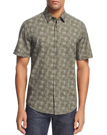 BOSS - Luka Patterned Regular Fit Button-Down Shirt