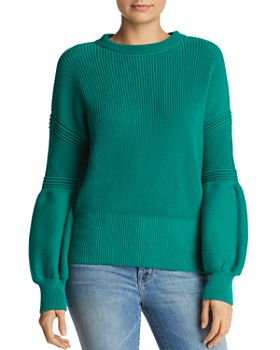 The Fifth Label - Explore Balloon-Sleeve Cotton Sweater