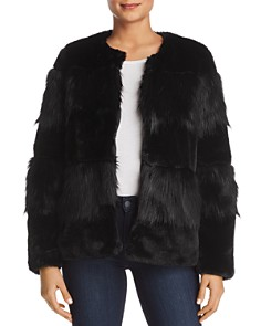 Vero Moda - Jazz Banded Faux-Fur Jacket