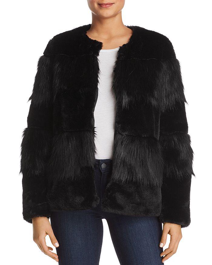Vero Moda - Jazz Banded Faux-Fur Jacket