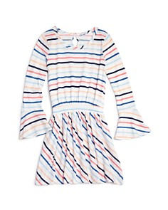 Splendid - Girls' Striped Bell-Sleeve Dress - Big Kid