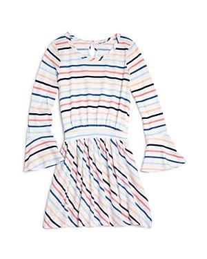 Splendid Girls' Striped Bell-Sleeve Dress - Big Kid