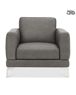 Chateau D'ax - Leather Logan Chair - 100% Exclusive