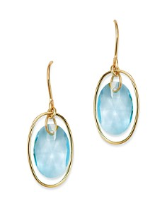 Bloomingdale's - Gemstone Oval Drop Earrings in 14K Yellow Gold