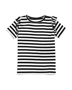 AQUA - Girls' Ruffle-Sleeve Striped Tee - Big Kid - 100% Exclusive
