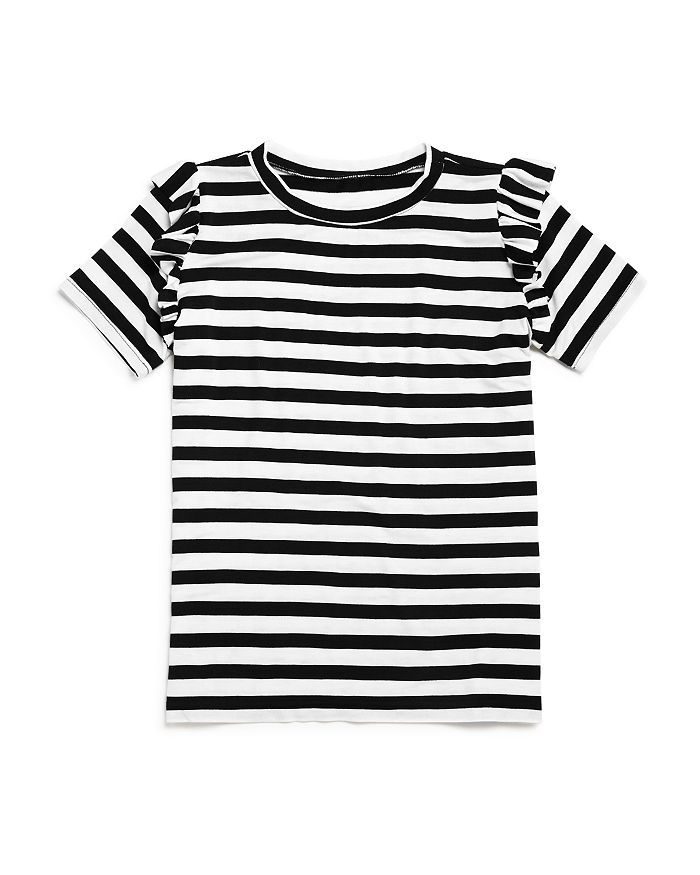 AQUA - Girls' Ruffle-Sleeve Striped Tee - Big Kid - 100% Exclusive