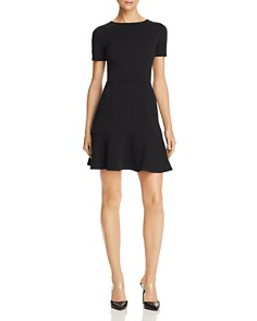 AQUA - Flounce-Hem Textured Dress - 100% Exclusive