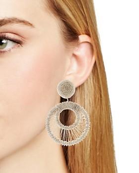Oscar de la Renta - Beaded Clip-On Drop Earrings