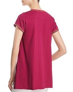 Johnny Was - Annaliese Short-Sleeve Embroidered Top