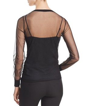 ... Elie Tahari - Adela Embellished Mesh Blouse - 100% Exclusive. Quick View 5c7f77c35