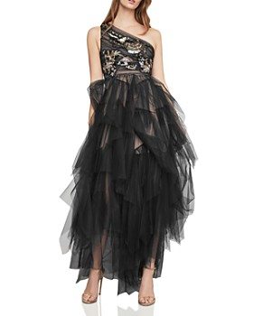 BCBGMAXAZRIA - Embellished One-Shoulder Tulle Gown ... b63d923ab6
