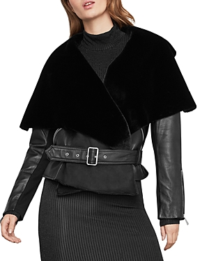 BCBGMAXAZRIA | Bcbgmaxazria Jade Leather Wrap Jacket | Goxip