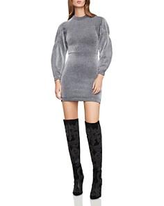 BCBGMAXAZRIA - Metallic Balloon-Sleeve Dress