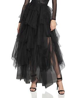 BCBGMAXAZRIA - Camber Tiered Tulle Maxi Skirt