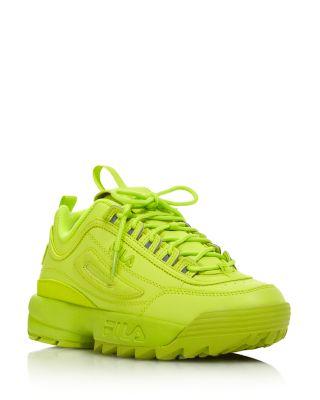 Premium Low-Top Sneakers In Neon Green