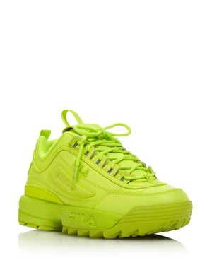 Fila Women's Disruptor 2 Premium Neon Lace-Up Sneakers