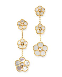 Roberto Coin - 18K Yellow Gold Daisy Mother-of-Pearl & Diamond Drop Earrings